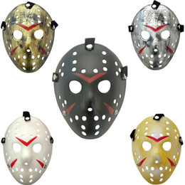 hockey masks Australia - Fashion Jason Mask Full Face Friday The 13th Prop Horror Hockey Scary Halloween Costume Cosplay Mask Party Supplies TTA1975