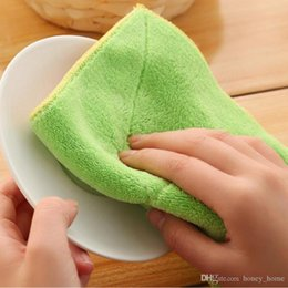 $enCountryForm.capitalKeyWord Australia - 13*23cm High quality Efficient Anti-grease Color Dish Cloth Bamboo Fiber Washing Towel Magic Kitchen Cleaning Wiping Rags
