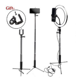 """Wholesale 2020 New Dimmable Photography LED 10""""26cm Selfie Ring Light Youtube Video Live Photo Studio Ring lamp with USB Plug Phone Stand Tripod"""