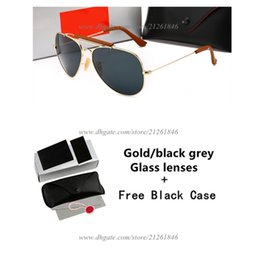 Glasses Sun Protection Australia - Hot Sale Round Frame Brand Design Sunglasses Women Men UV Protection Glass Lens Sun Glasses With Free Case And Box