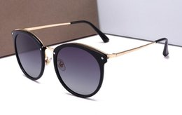 $enCountryForm.capitalKeyWord NZ - High quality women's polarized sunglasses fashion small round frame sunglasses women self-portrait glasses 13024 with Original cases and box