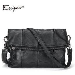 $enCountryForm.capitalKeyWord NZ - 2019 ESUFEIR Brand Genuine Leather Women Messenger Bag Patchwork Sheepskin Leather Shoulder Bag Women Crossbody Bag daily Clutch Y190612