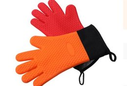 $enCountryForm.capitalKeyWord Australia - Amazon Best Selling Baking Appliance Heat Insulation Thickened Silicone High Temperature and Anti-scalding Five Finger Gloves Barbecue Tool