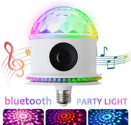 $enCountryForm.capitalKeyWord Australia - E27 LED Stage Light RGB Bluetooth Speaker Crystal almagic Ball LED Music Bulb 85-265V DJ Disco Party Lamp for Birthday Parties Clubs Clubs
