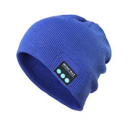 Autumn and winter wild fashion bluetooth hat Men s bib knit hat Women s  black soft music cap d07c5444df1f