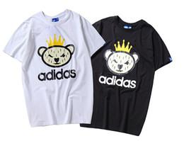 $enCountryForm.capitalKeyWord Australia - 19ssAdidas brand T-shirt luxury ss brand funny evil bear crown designer T-shirt shirt Sweatshirt clothing T-shirt hot sale