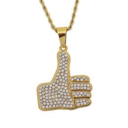$enCountryForm.capitalKeyWord Australia - 2019 men's fashion new trend high quality hot hot hip hop vertical mother finger pendant necklace exquisite accessories