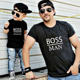$enCountryForm.capitalKeyWord Australia - family matching clothes outfits look father Son T shirt Shirts Family Clothes Child Tees Letter Print Tops Gourd doll