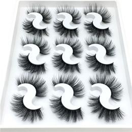 B long hair extensions online shopping - New Pairs Natural Fake D Mink Eyelashes Makeup Eyelash Extension False Eyelashes Full Strip Eye Lashes Mink Lashes Beauty Tool