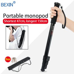 Wholesale BEXIN P264A sections clasp lock lightweight camera stand unipod monopod with adjustable foot pad for Canon Nikon DSLR camera