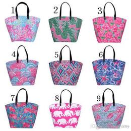 $enCountryForm.capitalKeyWord Australia - 2018 newest Canvas Bag Elephants starfish pineapple flamingos rose Tote Sports Bags Casual Cotton Canvas Tote Bag