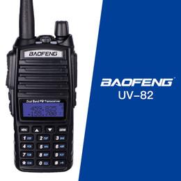 Dual Band Uhf Vhf Portable Australia - Hot Portable Radio Walkie Talkie Baofeng UV-82 With Earphone Button Radio Vhf Uhf Dual Band Baofeng UV 82 UV82 two way