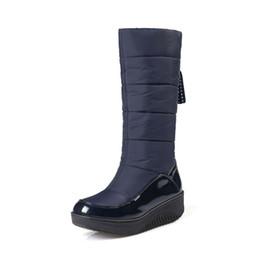 Lady Snow Boots Mid Calf Australia - 2018 Size 35-43 Fashion Women Boots Warm Comfortable Platform Winter Snow Boots Down Waterproof Ladies Mid Calf Boots W786