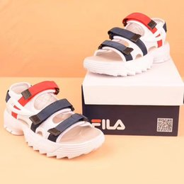 Woman rubber loW heels shoes online shopping - New Original II men women Summer Sandals black white red Anti slipping Quick drying Outdoor slippers Soft Water Shoe size