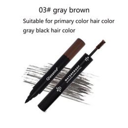 Dark brown eyeliner pencil online shopping - 2 in Cosmetic WaterProof Long lasting Light Brown Dark Brown Gray Brown Eyeliner Women Eyebrow Plastic Pencil
