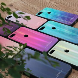 Glasses Case Material Australia - New Mobile Phone Case Toughened Glass Phone Case Fashion Design Protective Case For Iphone TPU Material Cellphone With 5 Colors
