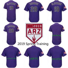 c5118dcbf Colorado 2019 Spring Training Jersey 28 Nolan Arenado 19 Charlie Blackmon  62 Yency Almonte 44 Tyler Anderson Baseball Jerseys