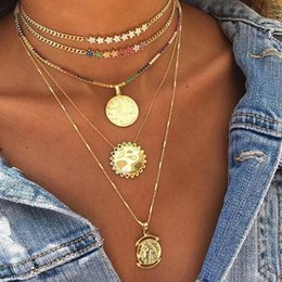 Statement Chain Multi Australia - 2018 Christmas Gift Rainbow Multi Color Star Charm Link Chain Choker Gorgeous Women Statement Necklace Cuban Chain Chocker J190531