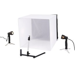 Portable Photo tent online shopping - Portable cm Camera Photo Studio Box Soft Light Tent Kit Color Backdrops With Tripod Mobile Shot Box Set Photography Props