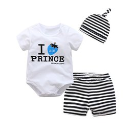 586bd448263 BibiCola 2018 new summer baby boys clothing set Short sleeve printing romper  +pants+hat fashion baby girls clothes newborn suit