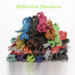 Wholesales Shoelace Charms Australia - 3M Reflective Flat Shoelaces High Visibility Shoelaces Replace Flash Metal Shoelaces for Hiking Boots, Sports Shoes, Basketball Shoes 120cm