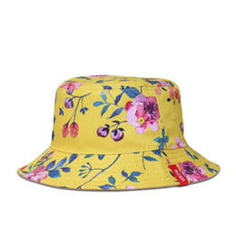Chinese  NUZADA Brand Printing Men Women Fisherman Hats Couple Bucket Hat Summer Autumn Spring Shade Cotton Caps Double Sided Can Be Worn 555 manufacturers