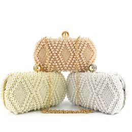 Ladies Side Handbags Australia - Double Side Beading Evening Party Wallet Ladies hasp party handbags small bags bolsa feminina Women Clutch Bridal Hand bag