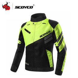 summer motorcycle jacket xxl Canada - SCOYCO Motorcycle Jacket Summer Breathable Mesh Moto Jacket Protective Gear Motocross Off-Road Protective Clothing