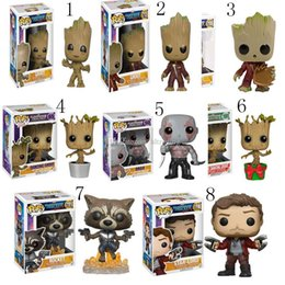 Discount action figures - 2017 new Guardians of the Galaxy Action Figures cartoon Groot toys Decoration 10cm 4 inches 12 styles C2325