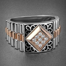 $enCountryForm.capitalKeyWord Australia - Vintage Two-tone Hollow Carved Men Rings Fashion Metal Punk Watch Belt Buckle Finger Rings For Women Wedding O5m339