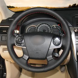 ToyoTa camry sTeering wheel online shopping - Car Steering Wheel Cover Hand stitc h on Wrap Cover Car interior decoration For Toyota Camry
