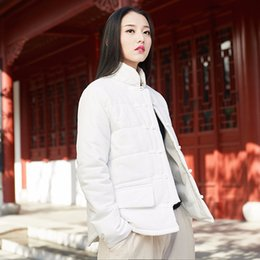 Original Parkas Australia - Cotton and linen parkas new original vintage 2019 thickening warm winter with cotton long sleeve women's BXF2307