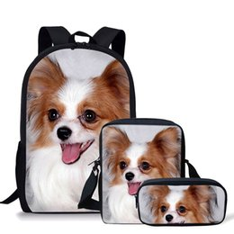 $enCountryForm.capitalKeyWord Australia - Koko Cat 3Pcs set Childrens School Bags Cute Papillon Printing Schoolbag Teenagers Shoulder Backpack Softback Bolsa Escolar