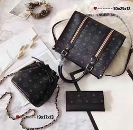 $enCountryForm.capitalKeyWord Australia - Designer Handbags Brand Bag Paris Real Leather Luxury Handbags Shopping Bag Shoulder Bag Fashion Clutch Bags Wallet Purse 1 Piece=3 bags Q11