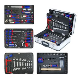 tool box screwdriver set NZ - WORKPRO 119PC Aluminum Tool box Set Household Tool Set Hand Tools Screwdriver Wrenches Pliers