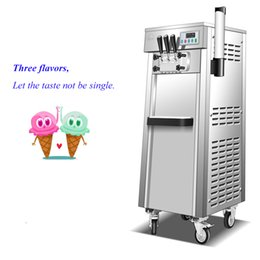 CommerCial stands online shopping - Floor standing Soft ice cream machine Three Heads Stainless Steel Digital Control Commercial Ice Cream Maker Yield L H