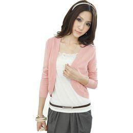 fed5734ad3a Pop 2019 Shawl Summer Cardigan Women Slim Waist Thin Sweater Short-sleeved  Knit Short Jacket Air-conditioned Shirt Vestidos LXJ223