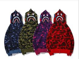 Camo Print Fashion Men NZ - New Fashion Autumn Winter Zipper Hoodie Printing Card Sweater Men Women Casual Camo Couple Hooded Jacket USA02