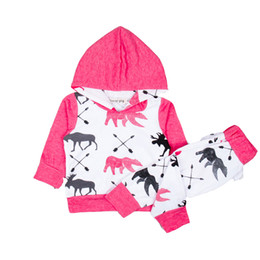 Chinese  Colorblock Hoodie Trousers Suit Long Sleeve Childrens Suit Animal Print Red Cotton Blend Cartoon Baby Boy 18 manufacturers