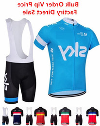 Sky cycling jerSey bibS Short online shopping - Sky Cycling Jersey With Bib Shorts Men S Unisex Short Sleeves Bike Clothing Suits Quick Dry Front Zipper Wearable Breathable