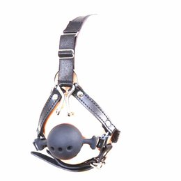 mouth hook gags Canada - Device Bondage Gear Harness Mouth Gags Silicone Ball Gag with Nose Hook BDSM Toys Fetish Play Slave Trainer Restraints Adult Toys for Women