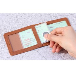 card protector sleeves wholesale Australia - ID Card Holder With 2 Clear Card Sleeves Driver License And Identification Protector