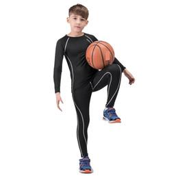 852e5cfd8d40 Abbigliamento sportivo da allenamento per ragazzo, asciugatura rapida  Abbigliamento sportivo da traspirazione Kit rashgard per bambini Tuta da 2  pezzi Tuta ...
