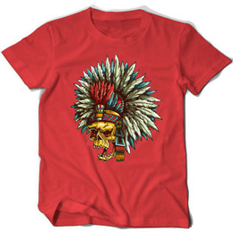 $enCountryForm.capitalKeyWord UK - Indian Chief t shirt Skull short sleeve tops Apache Knight fadeless tees Unisex white colorfast clothing Pure color modal Tshirt