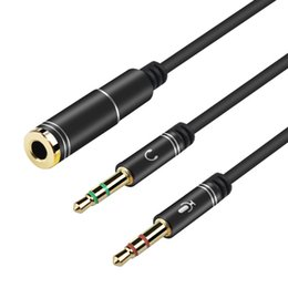 $enCountryForm.capitalKeyWord NZ - SZAICHGSI 1pcs 3.5mm Jack Microphone Headphone Splitter Audio Cable AUX Extension 2 Male To 1 Female Cables For Computer Notebook MP3