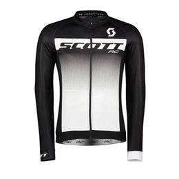 $enCountryForm.capitalKeyWord UK - SCOTT team Cycling long Sleeves jersey tops trend hot sale mens Bicycle equipment shirt Comfortable Breathable riding clothes Q71015