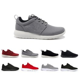 mens summer breathable shoes Australia - Hot 2019 Sale Summer Grey Red Running Shoes Men Women Black Low Lightweight Breathable London Olympic Sports Shoes Mens Trainers Size 36-45