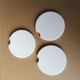 sublimation blank car ceramics coaster hot transfer printing coasters consumables real factory price wholesales on Sale