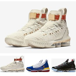 China 2019 XVI 16s Harlem's Fashion Row SuperBron Watch The Throne Basketball Shoes Fashion Mens Trainers 16s HFR Sports Sneakers Size 7-12 cheap watch men fabric suppliers