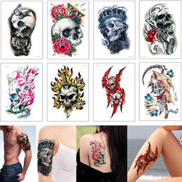f5c4d27a1 Cool Temporary Body Art Tattoo Sticker Sexy Butterfly Flower Blood Skeleton  Decal Transfer Paper Waterproof Tattoo for Woman Man Designs New